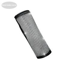 Auto Shift Gear Cover Handbrake Cover Shoulderpad Luster Crystal Car Knob Gear Stick Protector Rhine