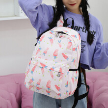 Girls'schoolbags, shoulder bags, Korean version computer bags, backpacks, recreational large-ca