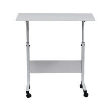 Movable Computer Side Table Sofa Coffee End Tables Living Room Bedroom Laptop End Desk with Wheels