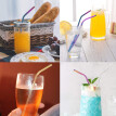 Useful Reusable 304 Stainless Steel Straw Milk Tea Colorful Straws Party Drinking Accessories
