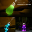USB Mini humidificador Air Purifier Atomizer LED Night Lights Ultrasonic fogger Humidifier Colorful lamp Bulb for Car Home Table