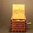 Carved wooden hand crank action figure, Harri Potter, Game of Thrones and star wars Thrones Handmade wooden Music Box