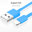 USB Cable For iPhone 6/6s/7/8 Fast Data Charger USB Cable For iPhone 6 plus 7 plus 8Plus iPad Air Mini Mobile Phone Cables