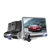 Factory direct three lens driving recorder hidden front and rear three recorded 4 inch video reversing image HD