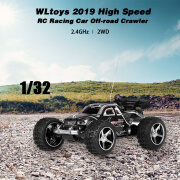 WLtoys 2019 1/32 2WD 25KM / H Mini RC Racing Car Crawler todoterreno para niños principiantes