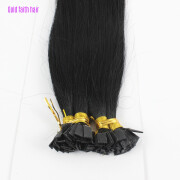 1g/s 100g Human Remy Hair Black Straight Custom Capsule Keratin Flat Tip Fusion Full Human Hair Extensions