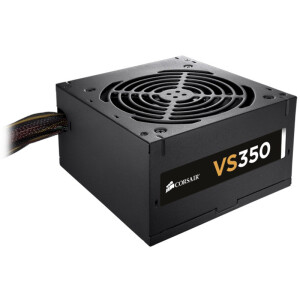 USCorsair rated 350W VS350 power supply (80PLUS certification / 12cm fan / conversion efficiency of 85% / active PFC / three-year warranty)