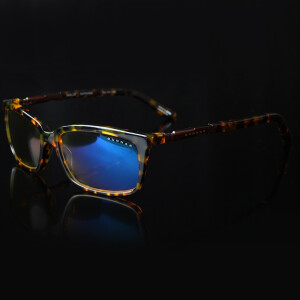 GUNNAR Haus Leopard Brown Mirror Frame Amber Lens Radiation Anti Blue Light Eyewear