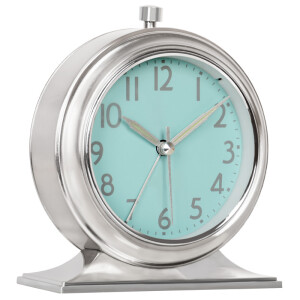 Hanse (Hense) creative metal alarm clock luminous classic clock living room bedroom desk clock home clock HA22 electroplating light blue