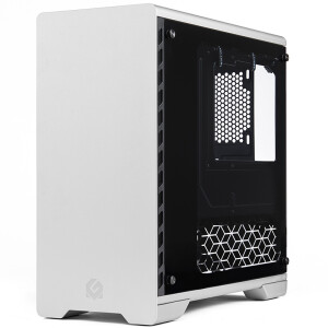 PHANTEKS MG (MetallicGear) 410 silver tempered glass RGB version mATX water-cooled computer aluminum chassis (RGB light control / support 240 water cooling)