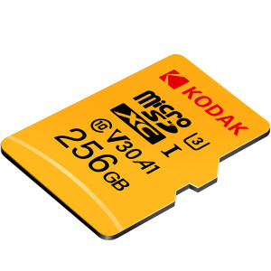 Kodak 256GB TF (MicroSD) memory card U3 A1 V30 speed version reading speed 100MB / s driving recorder security monitoring home monitoring mobile phone tf card