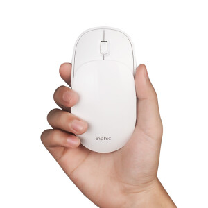 INPHIC PX1 Rechargeable Wireless Mouse Slider Mouse Portable Mouse Home Office Silent Laptop Desktop 2.4G Girl Mouse White