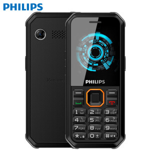 Philips (PHILIPS) E188A Starry black three anti-old mobile phone waterproof long standby straight button old mobile phone mobile Unicom 2G student function mach