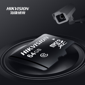 Hikvision 64GB TF (MicroSD) memory card C10 U1 read speed 95MB / s highly durable driving recorder & surveillance camera memory card