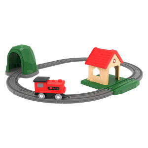 Millet MI rice rabbit track building block sound and light train set brand new sensor function | will sing train | a variety of cheerful melody | compatible wooden track
