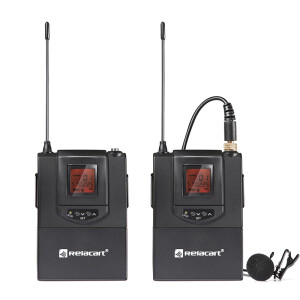 Relacart CR1 wireless microphone, lavalier microphone, professional interview microphone, SLR micro single camera one for a bee, mobile phone can be recorded by the original camera