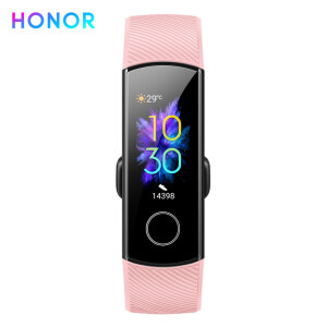 Honor Bracelet 5 Coral Powder Intelligent Sports Symphony Screen Touch Dial Market Sleep, Blood Oxygen Detection Real-time Heart R