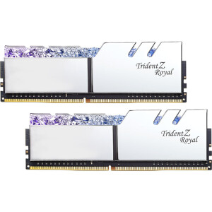 G.SKILL Trident Z Royal DDR4 3200 frequency 16G (8Gx2) set desktop memory RGB light bar ‖ C16 (silver)