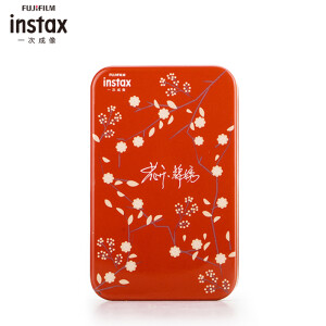 Fuji one-time imaging (INSTAX) peripheral accessories instax flower open embroidered iron box red