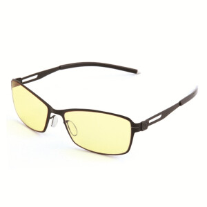 Gameking S-911G cool black all-box photo glasses glasses anti-blue men and women models professional glasses metal frame amber lens
