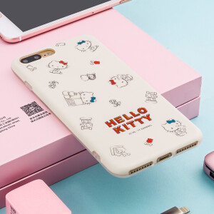 "Hello Kitty Apple 7/8 Plus Mobile Shell iPhone7 / 8 Plus Cartoon Sleeve All-In-One Silicone Shatterproof Soft Shell 5.5 ""Simple Hello Kitty"