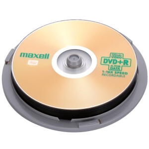 Maxell DVD + R 16 speed 4.7G Taiwan production drums 10 discs