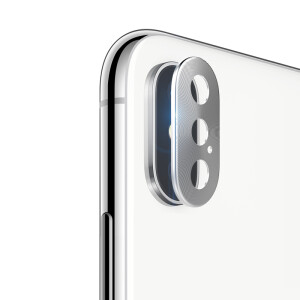 Feichuang Apple X Lens Metal Post iPhone X/10 Apple Phone Camera Protection Scratch Metal Sticker iPhoneX HD Lens Protector Space Silver