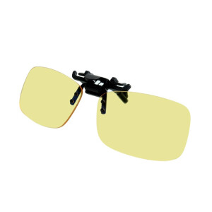 Gameking Frameless Glasses Prescription Glasses Chairs Anti-Blu-ray Men & Women's Professional Myopia Clamps Amber Lens