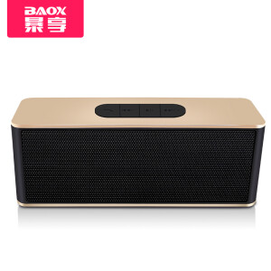 Baoxiang (BAOX) BO-101 Wireless Bluetooth Speaker Desktop Portable Dual Speaker Subwoofer Card Charging Mobile Computer Music Player Black