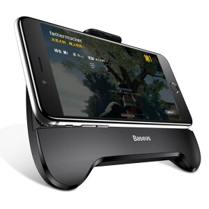 Baseus Mobile Radiator Jedi Survival Gamepad Mobile Power Stand Eat Chicken Artifact Applicable Apple iPhoneX/8/7/6Plus Android Phone Holder Black