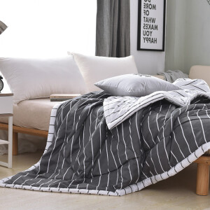 Ille quilt quilt home textile summer air conditioner was summer cool by towel core single double summer thin quilt 200*230cm static black