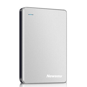 Newsman Breeze Metal 1TB Metal Case Heat Dissipation Magnetic Shockproof HDD USB3.0 Data Storage Backup Copy 2.5 Inch Ice Silver