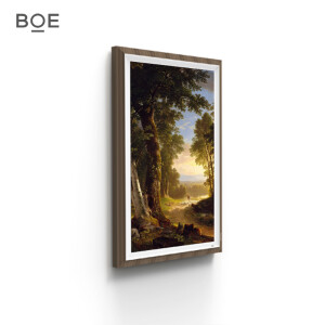 BOE 32 inch HD screen (black walnut) / digital photo frame / smart display frame / SLR / micro single camera works output