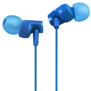 Audio-Technica ATH-CLR100is BL In-Ear Headphone Headset Smartphone Special Headset Blue