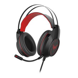 Bingo GX1000 USB Gaming Headset 7.1 E-sports Headset Headset Headset Computer Headset Jedi Survival Headphones Eating Chicken Headphones (Black Red)