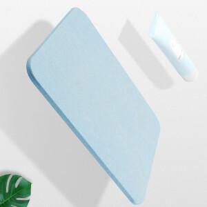 Jiebi Shi natural diatomaceous earth bathroom absorbent floor mat shower rectangular mat bathroom dry mat large 600mm*390mm blue