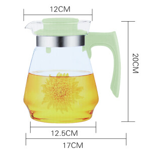 Golden bear high temperature borosilicate glass jug cold water bottle can be directly fired glass pot (2.0L) JT555