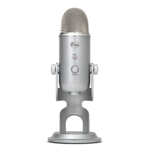 Blue yeti snow strange USB professional condenser microphone mobile phone game live broadcast singer singing microphone microphone universal K singing it conference recording black