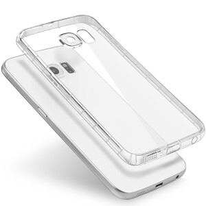 BIAZE Samsung S6 phone case / protective cover all-inclusive anti-drop transparent soft shell fresh series JK17-transparent white