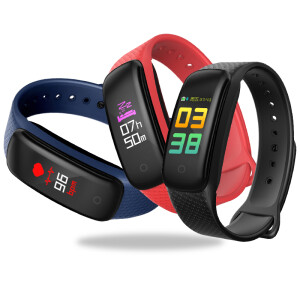 FERACE D3 fly sharp color screen waterproof heart rate monitoring intelligent sports blood pressure bracelet men and women Bluetooth watch multi-function running pedometer health sleep detection wisdom black