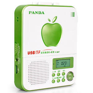 Panda (PANDA) F-327 Language Recorder Belt Machine Walkman Tape u Disk Card Portable Student English Learning Machine Player Recorder (Green)