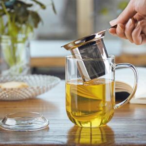 Qigao Glass Cup Heat Resistant Glass Belt Filtered Tea Leak Heat Resistant Glass Bubble Cup CK-107A
