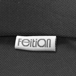 Feitian memory cotton lumbar cushion cushions office seat backrest pad sleeping lumbar car waist cushion pillow bird eye cloth black