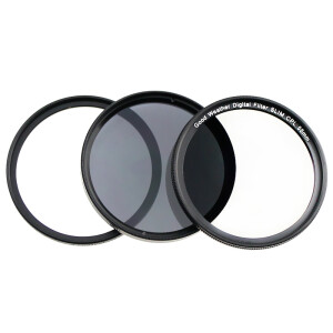 Weather good 58mm filter set ultra-thin UV mirror + ultra-thin CPL mirror + ND8 dimmer for Canon EF-S18-55 / EF-S55-250 Nikon 50 / 1.4G and other lenses