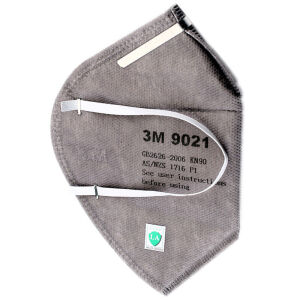 3M 9021 KN90 ear-type anti-particulate masks anti-PM2.5 / anti-dust gray durable (50 / box)