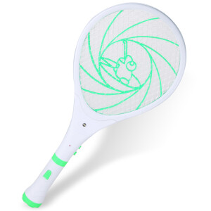 Green Chi rechargeable multi-function flashlight electric mosquito swatter safety anti-electric shock deworming LED lights mosquito fly swatter three-layer large net surface mosquito killing mosquito killer