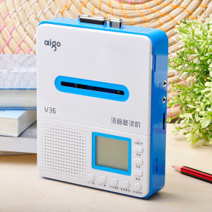 Patriot (aigo) high fidelity voice repeat machine V36 U disk TF card MP3 tape player primary school student tape recorder English learning machine blue
