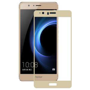 YOMO Huawei glory V8 tempered film mobile phone film protective film full-screen cover explosion-proof glass foil soil Hao gold -0.3mm
