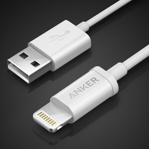 Anker Anke MFi certification 7/6 / 5s Apple data cable 1.8 m white mobile phone charger line power cord support iphone5 / 6s / 7P / SE / ipad airmini