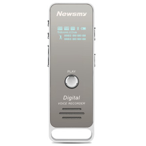Newman (Newsmy) RV51 8G silver professional digital voice recorder PCM lossless recording micro-HD noise reduction MP3 player